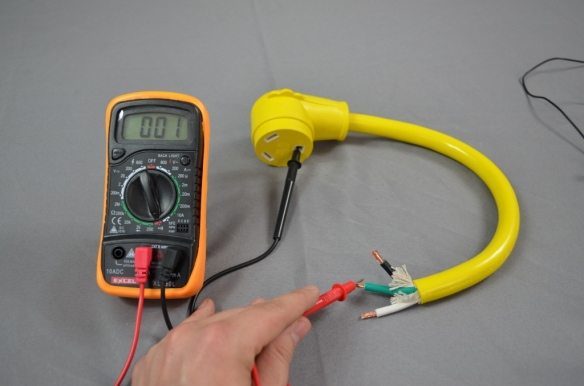 Testing the ground pin of an rv generator power cord